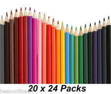 Bulk 20 Packs x 24 Colour / Coloured Pencils