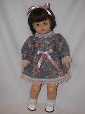 "21"" Vintage Little Girl With Black Hair Doll By EEGEE"