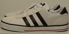 New Adidas SE Daily Vulc 3 black stripe sport soft leather lace up white sneaker