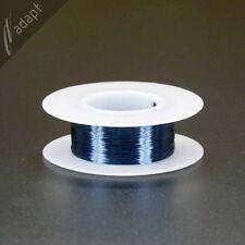 Magnet Wire, Enameled Copper, Blue, 38 AWG (gauge), 155C, ~1/16 lb, 1210 ft