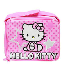 "Sanrio Hello Kitty Fullbody Star 9.5"" Canvas Pink Grils Lunch Bag/Box"