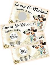 MICKEY AND MINNIE MOUSE WEDDING SCRATCH OFF OFFS GAME CARDS & PARTY FAVORS