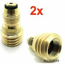 (Qty-2) Converts Propane LP TANK POL Service Valve to QCC Outlet Brass Adapte