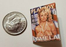 "Miniature Dollhouse book magazine 1"" 1/12 scale Playboy Pamela Anderson Flag"