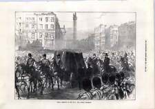 1872 Funeral Procession Of Lord Mayo Through Dublin