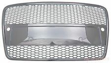 Audi A4 B7 2005-2008 All Chrome Grille RS Look w/ Sensor Hole Honeycomb