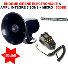 SPECIAL QUAD ATV BUGGY SURPERBE ENORME SIRENE 12V 100W 145db 5 SONS + MEGAPHONE