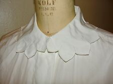 VINTAGE 70s KENZO*BOHO PETAL COLLAR IVORY WHITE BUTTON SHIRT TOP BLOUSE*40 S/M