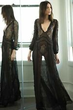 Stone Cold Fox Vermont Gown Dress Sheer Lace Maxi Gothic
