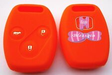 ORANGE SILICONE CAR KEY COVER FOR HONDA CIVIC ACCORD ODYSSEY CITY EURO FIT