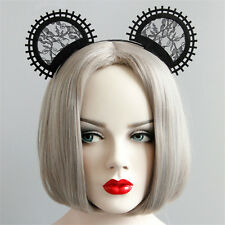 Black Lace Animal Cat Ears Headband Hairband Fancy Dress Party Costume Cosplay