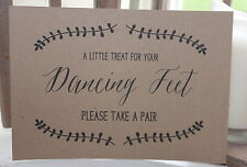 DANCING SHOES SIGN-A Treat for your Dancing Feet-Flip Flop-Rustic-Wedding-Kraft
