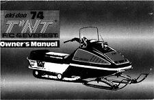 Ski-Doo owners manual book 1974 Éverest 440 & 1974 TNT F/C