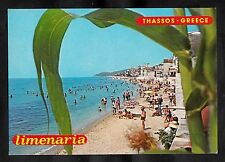 Posted C1980 - View of people on the beach. Limenaria, Thassos, Greece