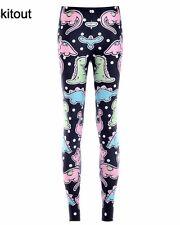 Size 12 Dinosaur Print Leggings Cute Kawaii Fairy Kei Kitsch Scene Emo Punk Goth