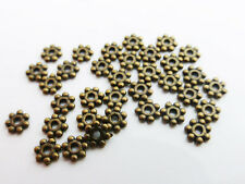 200 x Tibetan Silver Style Daisy Spacer Beads 4mm Antique Bronze LF NF (MBX0027)