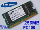 256MB PC100 SDRAM CL2 SO-DIMM 144pin 100MHz NOTEBOOK LAPTOP SODIMM RAM SPEICHER