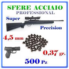 500 SFERE ACCIAIO 4,5mm PALLINI STELL BB .177 DIABOLO PELLETS CARABINA PISTOLA