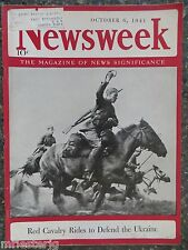 Newsweek Magazine October 6, 1941 Red Cavalry Rides in Ukraine GREAT VINTAGE ADS