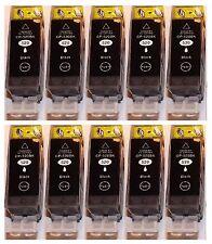 10 schwarz Patronen für Canon PIXMA iP3600 iP4600 MP540 MP550 MP620 Mit Chip