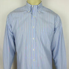 Mens Brooks Brothers Non Iron dress shirt button front Stripes – Size 15 – 33