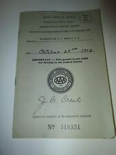 1973 Expired United States International Driving Permit with Picture and Name
