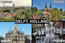 SOUVENIR FRIDGE MAGNET of DELFT HOLLAND