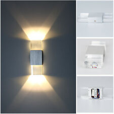 Modern 2W LED Wall Light Up Down Lamp Sconce Spot Lighting Bedroom Fixture