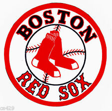 "3"" BOSTON RED SOX BASEBALL SPORTS BALL  PREPASTED WALL BORDER CUT OUT"