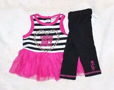 Choose Juicy COUTURE Girl's 0-3 mo NB Tunic Top Shirt Dress Leggings Outfit Set