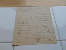 RARE Vintage Antique SIGNED Letter 1891 PALMER COX Author Brownies (1840-1921)