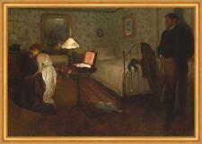 Interior Edgar Degas Schlafzimmer Bett Schatulle Familie Mädchen B A1 01436