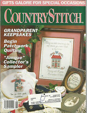 Country Stitch May June 1992 Floral Oval/Family Reunion Quilt/My Dad/Grandparent