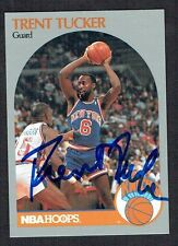 Trent Tucker #208 signed autograph auto 1990 Hoops Basketball Trading Card