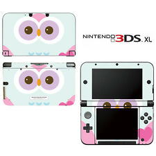 Cute Owl Decorative Decal Cover Skin for Nintendo 3DS XL