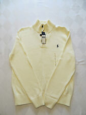 NWT POLO RALPH LAUREN MENS CREAM BUTTON NECK SWEATER  50% OFF RETAIL100% COTTON