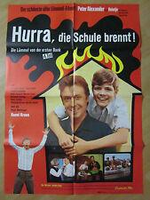 Filmposter - Die Lümmel von der ersten Bank - Hurra, die Schule brennt * EA 1969