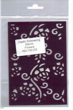 Plastic/pvc/embossing / stencil/flowers/flourishes / background/484.139.033