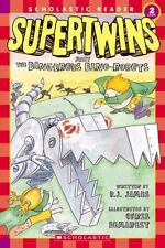 Supertwins Meet the Dangerous Dino-Robots (Scholastic Reader level 2)-ExLibrary