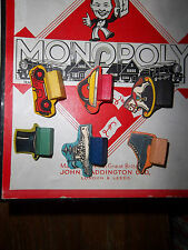 VINTAGE WADDINGTON  MONOPOLY with WOODEN PIECES  VERY NICE CONDITION  1940s