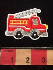 Patch RED FIRE TRUCK & LADDER ~ Appliqué Style 68WO
