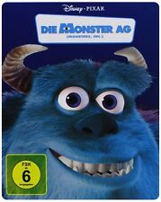 DIE MONSTER AG (Walt Disney, Pixar) 2-Disc Steelbook Collection Blu-ray NEU+OVP