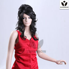 Long Wave Women Wigs Black Female Hair Curly Synthetic Japan's Wig+Hair Net Cap
