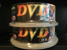 2 25 Packs RiDATA Double Layer DVD +R DL 8.5gb