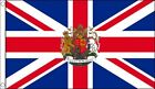 UNION JACK with ROYAL CREST FLAG 5' x 3' Queens Diamond Jubilee British Flags