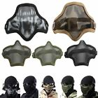 Outdoor Sports Tactical SKULL Mask Airsoft Metal Steel Wire Half Face Mesh Masks
