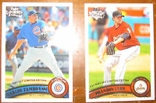 2011 Topps Diamond Anniversary Factory Limited Edition: #539, 558 (2 cards)