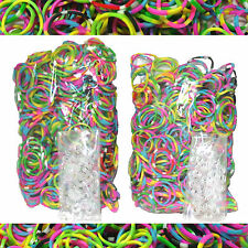 Polka Dot Tie Dye Color Rainbow Loom Rubber Refill 1200 Bands + 50 S Clips