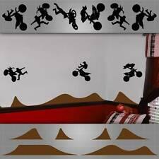 "Motocross kids room decals, Motocross kids room wall decals,12 Decals 8""-30"""