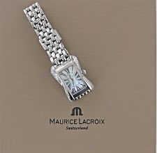 MAURICE LaCROIX LADIES DIVINA  MOP DIAMOND BEZEL STAINLESS SWISS TANK WATCH